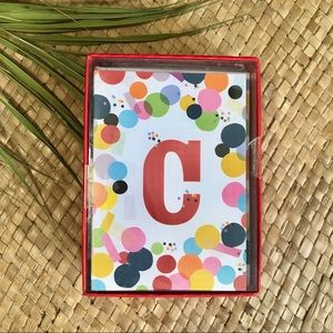 🛍 3x$25 C initial card with envelope stationary.